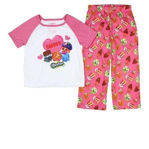 Shopkins Girls 2 Piece PJs